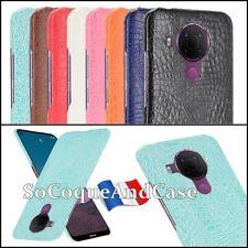 Etui Housse coque Crocodile Texture Design Cuir PU Leather Case Cover Nokia 5.4