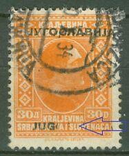 YUGOSLAVIA 1933 - 30 dinara WITH ERROR IN OVERPRINT missing 'OSLAVIA' MI. 268