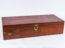 Antique 19th Century Cherry Wood Traveling or Storage Trunk
