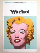 "ANDY WARHOL RARE 1971 LITHOGRAPH PRINT TATE LONDON EXHBTN POSTER ""MARILYN"" 1964"