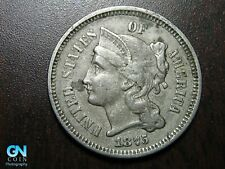 1875 3 Cent Nickel Piece    BETTER GRADE!  NICE TYPE COIN!  #B6778