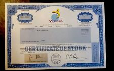 RARE-YAHOO INC. STOCK CERTIFICATE-HARD TO FIND-VERY NICE CONDITION!