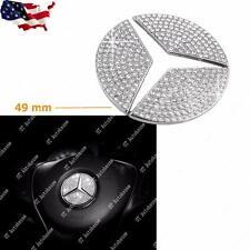 49mm Steering Wheel Center Logo Diamond Emblem Sticker Decoration Mercedes Benz