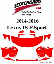 3M Scotchgard Paint Protection Film Pro Series 2014 2015 2016 Lexus IS F-Sport