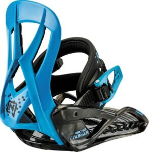 Nitro Micro Charger Snowboard Bindings Youth / Kids XS (US 12.5-4.0) Blue New