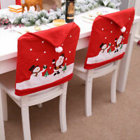 Christmas Santa Hat Chair Cover Dinner Table Decoration Party Home XMA Decor Lot