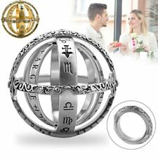 Astronomical Sphere Ball Ring Cosmic Finger Ring Couple Lover Foldable Jewelry