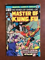 Master Of Kung Fu #27 (1975) 5.0 VG Marvel Key Issue Bronze Age Shang-Chi