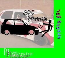 100 Point Polizei Police Aufkleber Sticker Sieger Autoaufkleber JDM Hater Fun