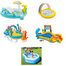 PLAY CENTER PADDLING POOL INFLATABLE KIDS OUTDOOR SWIMMING POOL WATER SLIDE