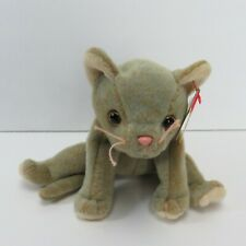 1998 Ty Beanie Babies Scat the Cat Tag Errors Rare Retired