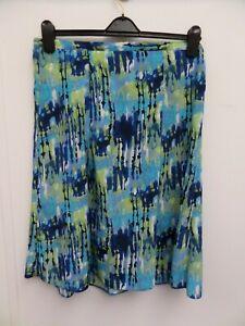 Honor Millburn at EWM Blue/Green/White Part Elasticated Skirt Size 14