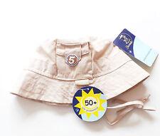 Mütze Gr.43 Sterntaler NEU UV 50+ 100% Baumwolle beige Fischer Hut baby sommer