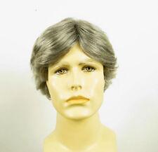 Perruque homme 100% cheveux naturel gris poivre et sel ref LUCIEN 44