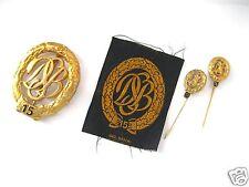 DSB Sportabzeichen 15 in Gold (1x Metall, 1x Stoff) + je 1x Miniatur 15 und 10