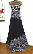 MONSOON ✩  STUNNING PERSIA SEQUIN MAXI DRESS  ✩  BLACK & SILVER  ✩ UK 8