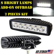 2X 18W LED Work Light Bar Flood Sport BEAM OFFROAD 4X4 ATV DRIVING DRL Fog Lamp