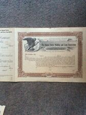 Annual Series Building And Loan $200 Unused INVALID SHARE CERTIFICATE