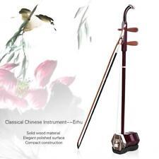 Solidwood Erhu Chinese 2-string Violin Stringed Musical Instrument Red P1N5