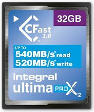 Integral 32GB 3600X Spped Ultimapro X2 CFast 2.0 Tarjeta. incfa 32G-540/520