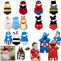 Baby Boy Girl Carnival Fancy Party Costume Dress Suit Outfit+HAT Clothes Set