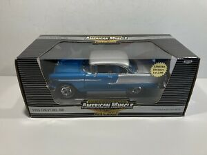 1:18 Ertl American Muscle 1955 Chevy Belair Blue / Silver. 1 / 2500 Limited ED