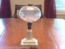 "Vintage Hobbs Victorian Oil Lamp In The ""Loop & Ribbed Band"" Pattern"