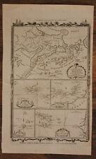 "Orig. Kupferstichkarte von Hogg ""Inselkarte Pazifik & Atlantik"" um 1780 sf"