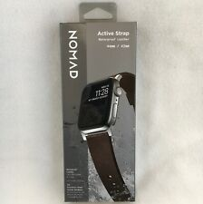 Nomad Active Strap with Waterproof Leather Apple Watch 44/42mm Mocha Brown