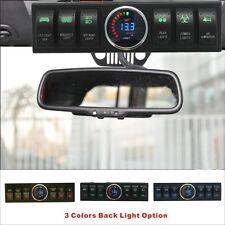 Apollointech Jeep Wrangler JK &JKU 2007-2018 Overhead 6-Switch Panel Green Light