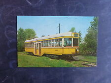 OLD COLOUR USA TRAM POSTCARD CLEVELAND OH KUHLMAN CAR 1225