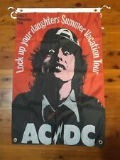 AC DC Man cave flag Bon Scott Angus young aussie rock band wall hanging ACDC