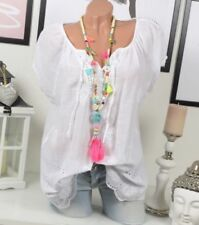 Maglie e camicie da donna camicetta senza colletto taglia 42