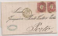 PORTUGAL 1873 - LETTER/COVER LISBON TO PORTO (LISBOA - PORTO)
