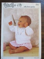 Peter Pan  4 ply Baby  cardigan knitting pattern Leaflet no.P 688