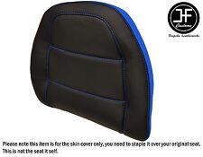 STYLE2 L BLUE BLACK VINYL CUSTOM FOR HONDA GOLDWING GL 1500 88-00 BACKREST COVER