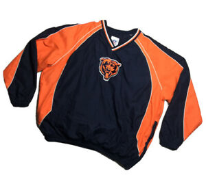 Authentic Vintage Chicago Bears NFL Team Apparel 3XL Pull Over Windbreaker