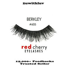 5 X RED CHERRY 100% HUMAN HAIR BLACK FALSE EYE LASHES #605 AUTHENTIC
