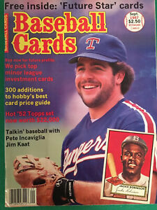 Baseball Cards Magazine September 1987 Pete Incaviglia Cover , With Bonus Cards