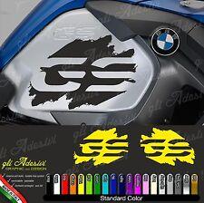2 Adesivi Fianco Serbatoio Moto BMW R 1200 gs adventure LC big 2016 GS macchia
