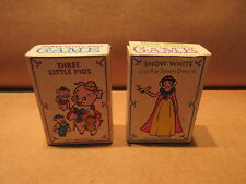 Vintage Mickey Mouse Club Card Games Snow White 7 Dwarfs and Three Little Pigs