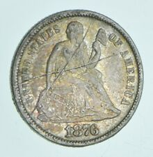 Historic 1876-S Seated Liberty Dime *955