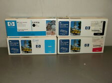 Lot of 2 HP C4191A Black, 1 C4192A Cyan and 1 C4193A Magenta Toner Cartridges