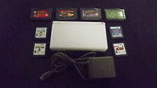 Nintendo DS Lite White with Charger & 8 Great Games Spongebob Shrek Happy Feet