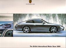 Porsche Motorshow 2000 UK Market Sales Brochure Boxster 911