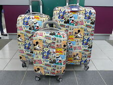 DISNEY HARD CASE SET 3 Piece BRAND NEW COMIC MICKEY MOUSE RRP$677