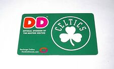 BOSTON CELTICS DUNKIN DONUTS GIFT CARDS NO VALUE COLLECTOR CARD