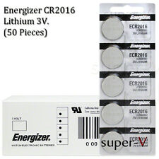 Energizer CR2016 ECR2016 3V Lithium Coin Batteries (50 Coin Cells)