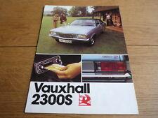VAUXHALL  ( VICTOR)  2300S BROCHURE jm