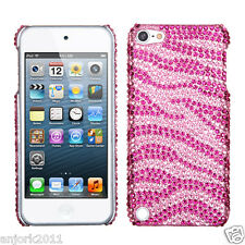 Apple iPod Touch 5 DIAMOND CASE HARD BACK COVER ACCESSORY PINK ZEBRA